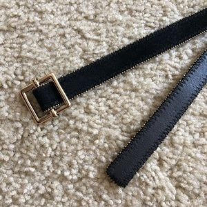 Ann Taylor Black and Gold Belt